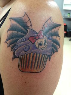 Halloween cupcake tattoo no candy corn it 39 s gross for Candy corn tattoo