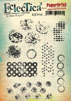 Paper Artsy - Eclectica Cling Mounted Rubber Stamps - Eclectica Ellen Vargo 06