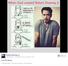 Robert Downey Jr. fangirling over himself.