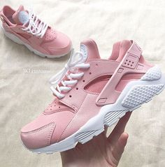 Adidas Women Shoes - ROSA Nike Air Huarache Rosa Nike Huarache Rose White by JKLcustoms - We reveal the news in sneakers for spring summer 2017 Nike Huarache Rose, Zapatillas Nike Huarache, Nike Free Shoes, Nike Shoes Outlet, Running Shoes Nike, Pink Nike Shoes, Sneakers Mode, Sneakers Fashion, Ladies Sneakers