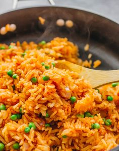 This mildly spicy Mexican rice is easily cooked using a pan on the stove, and has lime, onion, and garlic flavors.