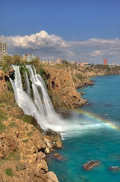 Duden Waterfall in Turkey.