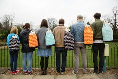 Here's a post about colourful patterny bags by Scottish designer Laura Spring.
