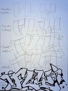 Graffiti Lessons Fly Progression Cast Progression Rock Progression (quick sketch) simple Tear Drop Cuts pt 2 Throw Ups Bubble Wav. Graffiti Lettering Fonts, Graffiti Words, Graffiti Writing, Graffiti Tagging, Graffiti Alphabet, Street Art Graffiti, Graffiti Games, Graffiti Artists, Graffiti Designs