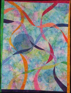 Handmande Art Quilt - RIBBONS