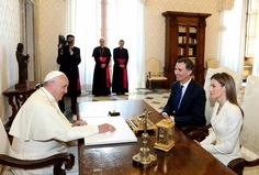 MYROYALS&HOLLYWOOD FASHİON:  Visit to the Vatican, June 30, 2014-King Felipe and Queen Letizia and Pope Francis