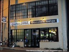 Chocolate Lounge? Definitely stopping by! lol! French Broad Chocolate Lounge, Asheville NC