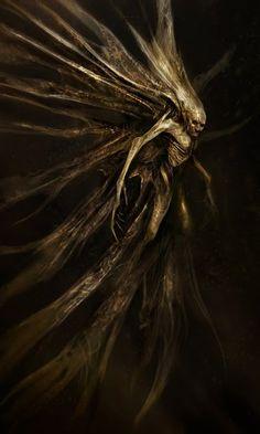horror concept art monster sci-fi science fiction alien horror movie