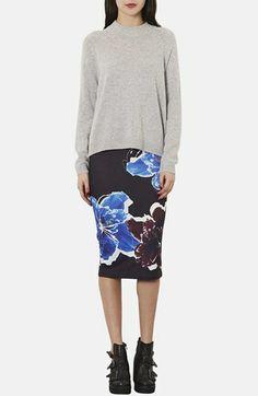 Topshop Floral Print Tube Skirt | Nordstrom