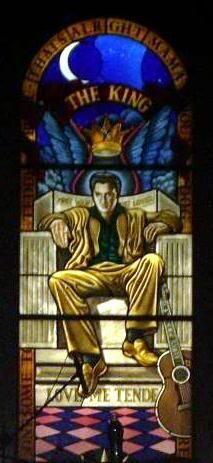 The Graceland Stained Glass that Really Isn't… and the Elvis Stained Glass that Really is | ElvisBlog