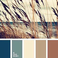 I think this is my palette for the house. Natural gamma: blue sea color, gray-blue, shades of sand and heather. This palette is useful when selecting combinations of natural materials. Paint Schemes, Colour Schemes, Color Combos, Paint Combinations, Beach Color Schemes, Beautiful Color Combinations, Wall Colors, House Colors, Paint Colors