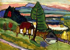 bofransson: Staffelsee Landscape Gabrielle Münter - 1931