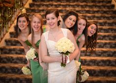 winter wedding photo bridesmaids