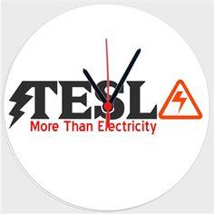 Tesla Duvar Saati 27cm Kendin Tasarla - Duvar Saati 27cm