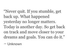Damn right! I don't GIVE UP!