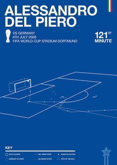 Rick Hincks' minimalist posters celebrate the World Cup's best goals.