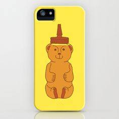 Honey Bear iPhone 5 (and 4 and 3) Case by Jen Montgomery
