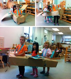 Three-seater passenger plane by the kids at Westside Montessori School in Toronto, Canada.