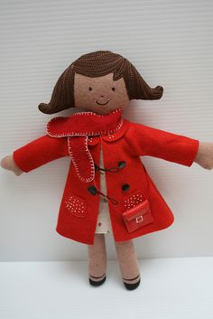 How cute is this handmade doll?
