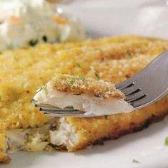 Receita de peixe empanado ao forno