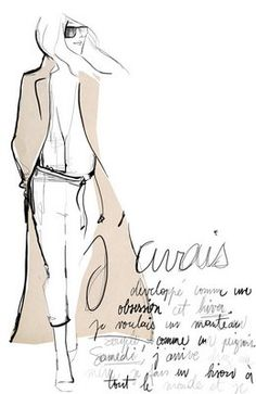 Abrigo Camel by Garance Dore Fashion Illustration Sketches, Illustration Mode, Fashion Sketchbook, Fashion Sketches, Drawing Sketches, Sketching, French Illustration, Sketchbook Drawings, Fashion Drawings