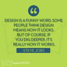 Design is a funny word...
