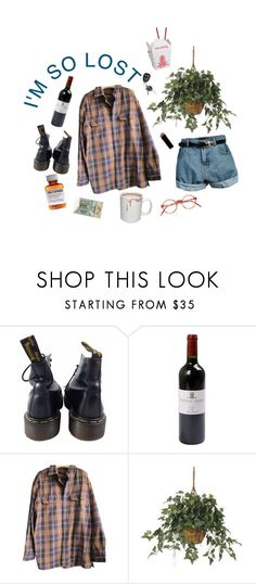 """senior year #3"" by gnooki ❤ liked on Polyvore featuring Dr. Martens, GAS Jeans, Timberland, Retrò, PLANT, Børn, indie, flannel and alternative"
