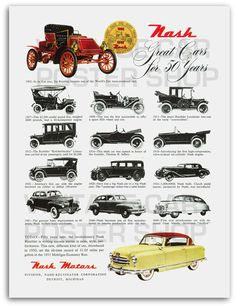 1952 NASH Poster Print in Full Color by southcoaststudio on Etsy, $12.00