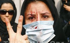 An Iranian woman protesting the Islamic Republic and anti-women regimes.