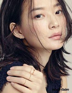 "❤""Shin Min Ah""❤🍀💋🌿🌷🌻🇰🇷 Overwhelms Marie Claire Readers With Her Grace Korean Makeup, Korean Beauty, Asian Beauty, Marie Claire, Beautiful Asian Women, Beautiful People, Korean Celebrities, Celebs, Shin Min Ah"