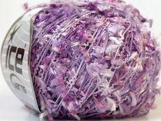 ice yarns grass lilac shades novelty yarn eyelash by turkishmarket, $4.50