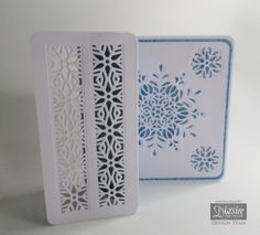 """6"""" Z fold card made with Crafter's Companion Die'sire Christmas Cut In Create-a-Card - """"Ornate Snowflake"""" Designed by Angela Blaney #crafterscompanion"""