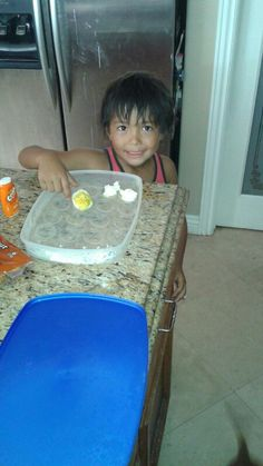 Caiden getting the last deviled egg.