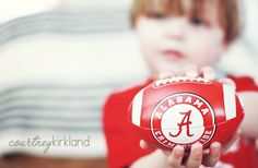 Perfect for the Roll Tide Room, go dawgs! maybe do a gray & white pic with the ball in Crimson & non-blurry faces for the kids. I like, I like!!!