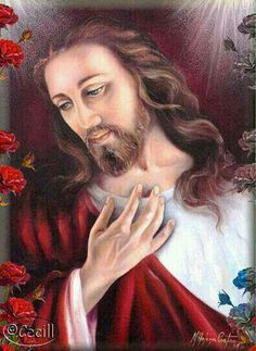 ♡ Beautiful Jesus-- This is an artists rendition of Jesus Christ. For many people, looking at images representing Jesus, gives them a feeling of great Love and yearning for Him. We are told not to judge others, please be respectful of people that have differing points of view.