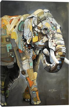 Asian Elephant by Britt Freda Art Print Elephant Canvas Art, Elephant Artwork, Elephant Poster, Ouvrages D'art, Art Et Illustration, Art Abstrait, Animal Paintings, Canvas Art Prints, Asian Elephant