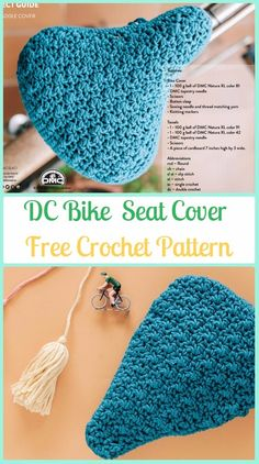 Crochet DC Bike Seat Cover Free Pattern - Crochet Bicycle Fashion Patterns