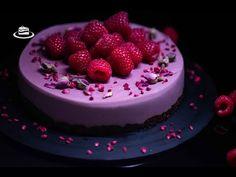 Cheesecake Vegan sau de Post cu Zmeura & Trandafir / Vegan Raspberry & Rosewater Cheesecake (EN. CC) - YouTube Rose Water, Raspberry, Macarons, Cheesecake, Desserts, Food, Tailgate Desserts, Deserts, Cheesecakes