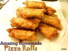 Pizza rolls in egg roll wrappers! Plus many more delicious recipes