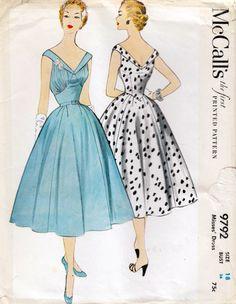 McCall's 9792 ©1954 dress