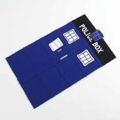 Milsaps Titus Earles Dr Who TARDIS pouch (could make messenger bag)