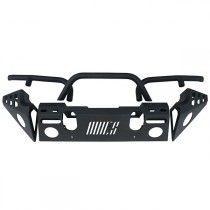 Aries Automotive Front Modular Replacement Bumper, Carbon Steel, Texture Black