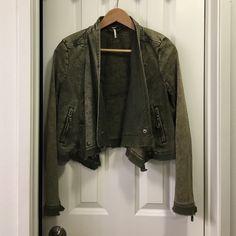 Free people jacket Denim green jacket Free People Jackets & Coats Jean Jackets