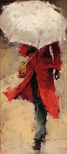 Un poeta es una persona que sale en medio de la tormenta con la esperanza de que un rayo lo alcance.... Painter: Andre Kohn - http://www.andrekohn.com