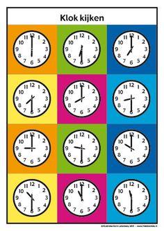 <h1>Klokkijken met Frokkie en Lola deel 1</h1>Oefen het klokkijken met de werkbladen van Frokkie en Lola.