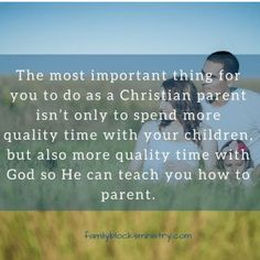 The one thing every Christian parent must do every day | Family Blocks