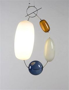 Jewel lighting by the Finnish designer Katriina Nuutinen (1983). The lamp is part of the collection of the Finnish Glass Museum.