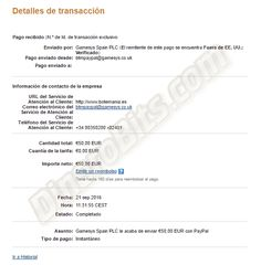 Primer pago que recibo de Botemania, una excelente página de juegos de azar. Posibilidad de ganar dinero jugando gratis. Todos los detalles los podéis ver aquí: http://dinerobits.com/botemania-bingo-online/