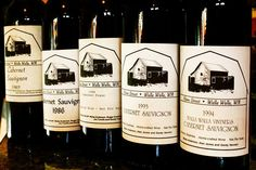 """Myles dug deep into his cellar and this is what he found, five bottles of the original """"Home Street"""" labeled wines dating back to 1985. It was quite a treat to taste these early examples of pre-Walla Walla Vintners wine, especially the '88 Cab Franc! Cheers Boys!!"""