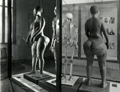 """Sarah was a Khoikhoi woman who was exhibited as a freak show attraction in early 19th-century Europe under the name Hottentot Venus — """"Hottentot"""" was the then-current name for the Khoi people. After she died impoverished at a very young age, her body was dissected and her remains displayed. For more than a century and a half – until 1974! – visitors to the """"Museum of Man"""" in Paris could view her brain and skeleton. In 2002, she was peacefully laid to rest in her homeland South Africa."""